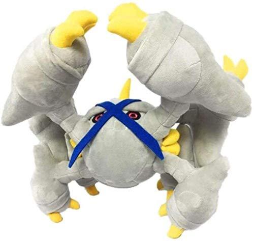 DINEGG Kingler Pokemon Plüschspielzeug 42cm Eisen Hantel Sonnenmond weiche gefüllte Spielzeug Kinder Geschenke YMMSTORY
