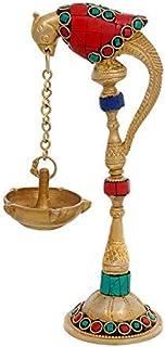 "SataanReaper Presents 7.5"" Brass Peacok Lamp (Pack Of One)   Home Decor #SR-645"