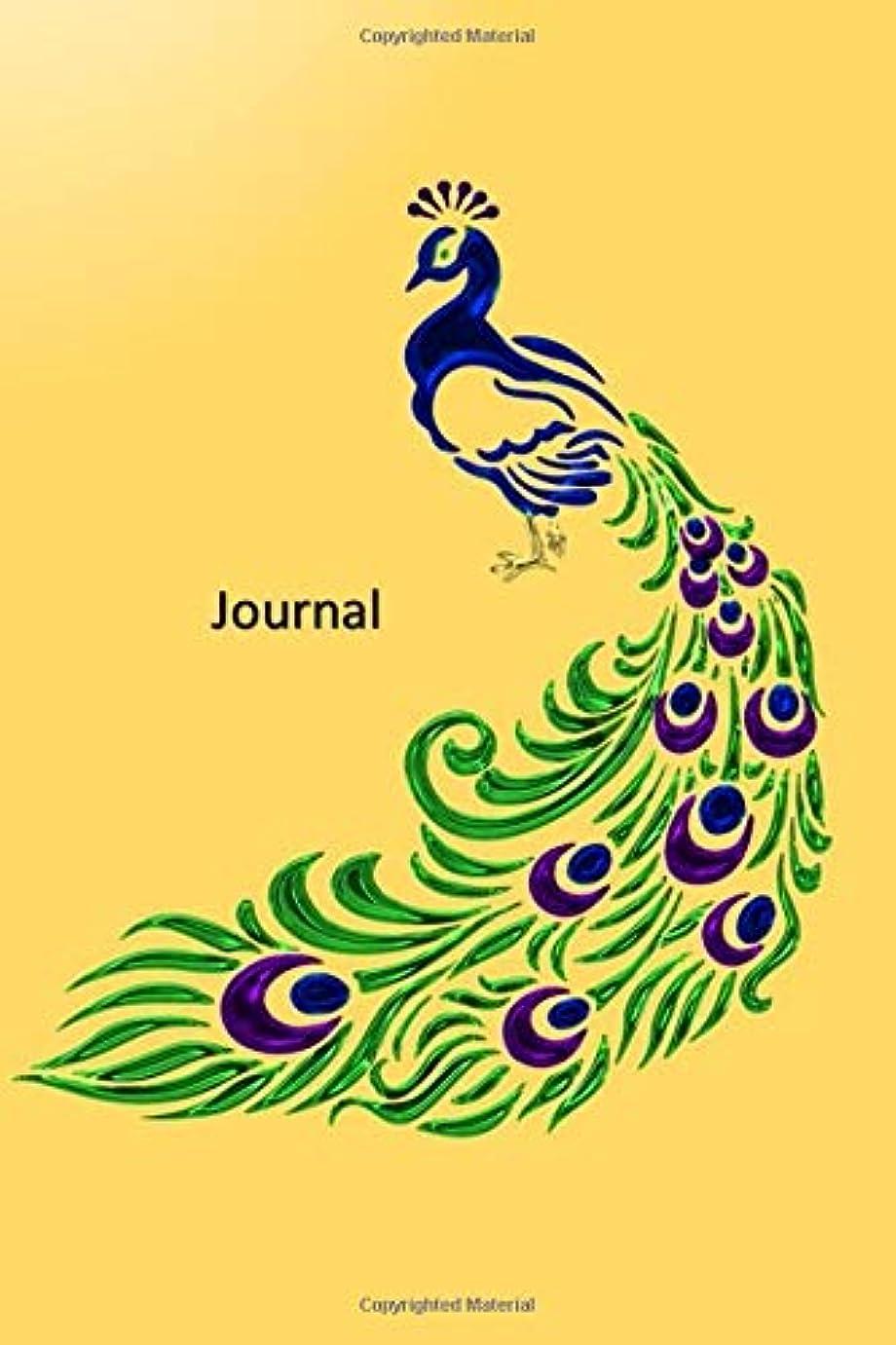 顕現キモいどんなときもOne Line a Day Memory Book: Three Year Journal - Over 365 Days - Dreamcatcher Theme Interior -  Handy Size - Notebook - BoHo Inspired Yellow Peacock Cover.