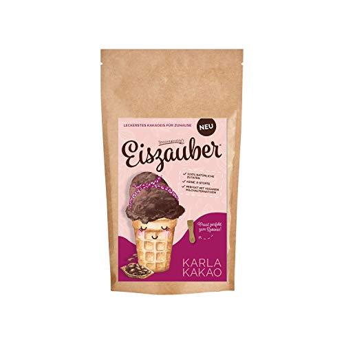 Spoontainable's Eiszauber Karla Kakao | 150g Eismix für (veganes) Milcheis | Eispulver aus 100% natürliches Zutaten | Eis zum Selbermachen | Eis DIY | Eisbasis für Eismaschine | Speiseeis