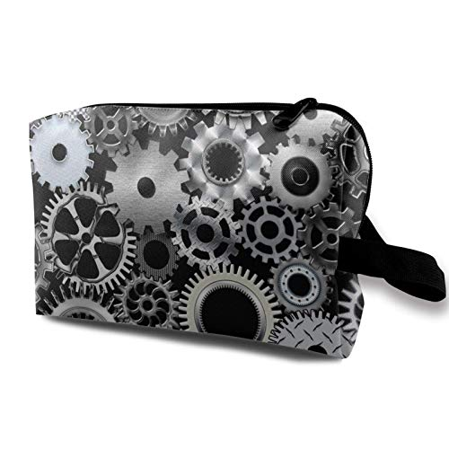 XCNGG Cosmetic Bag Large-Capacity Toiletry Pouch Soft Travel Makeup Bags Mechanical Engineering Gear