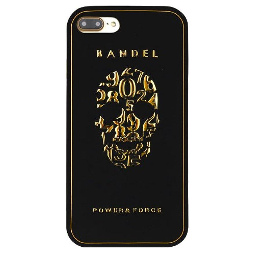 風変わりな玉ねぎお尻バンデル(BANDEL)iPhone7Plus ケース スカル[ブラック×ゴールド]/スマホケース iPhoneケース iPhone用