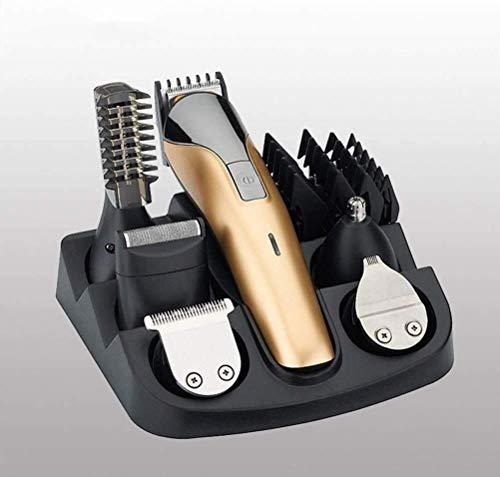 El corte de pelo tijeras de herramienta profesional del corte de pelo Hair Clippers inalámbrico fácil de usar pelo Trimmer 11 en 1 inalámbrico de pelo eléctrico Clipper máquina de afeitar Conveniente