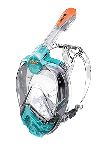 SEAC Libera, Full Face Snorkeling Mask, Hypoallergenic Silicone, Quick Release, EN136:2000...