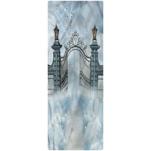 Fantasy Area Runner Rug, 2'x6', Open Door of Castle Gate Plush Decorative Kitchen Mat with Non Slip Backing for Kitchen/Tub/Living Room