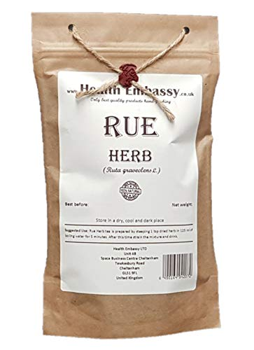 Health Embassy Weinraute Kraut Tee (Ruta Graveolens) / Rue Herb Tea, 50g