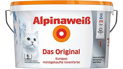 ALPINA Innenfarbe Das Original, Alpinaweiß 8L 8 l, weiß