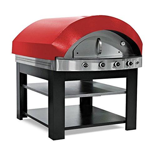 Gas Pizza Ofen - Rot - mit Untergestell