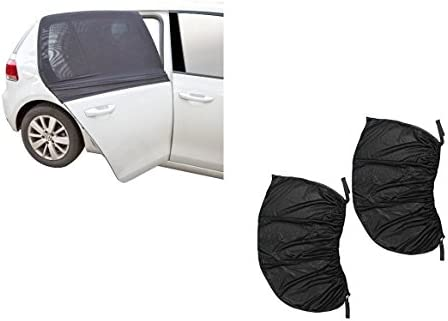Pair of Car Window Shade for Sun UV Baby Insects Protection Universal Fit Adjustable Sun Shade product image
