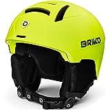 Briko Canyon Casco de esquí/Snow, Adultos Unisex, Matt Yellow Fluo, Large