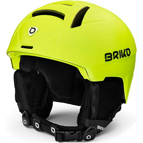 Briko Canyon Casque de Ski/Snow, Adulte, Unisexe, Matt Yellow Fluo, X-Large