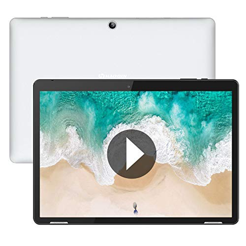 Tablet 10 Pulgadas Android 9.0 WiFi - HAOQIN H10 2GB RAM 32GB ROM Quad Core IPS HD Display Altavoces estéreo Bluetooth Certificado por Google (Gris)