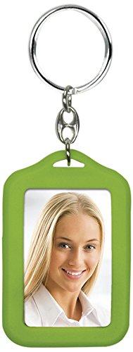 Zep AP35BK-Portachiavi con Foto di identità Fronte/Retro, in plastica, 3,5 x 4,5 cm Verde
