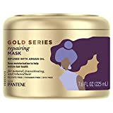 Gold Series, Repairing Mask Hair Treatment, Butter Crème Hair Treatment, with Argan Oil, from Pantene Pro-V, for Natural and Curly Textured Hair, 7.6 fl oz (Packaging May Vary)