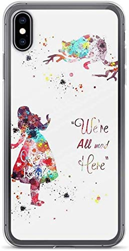 Mnertsa - Carcasa compatible con iPhone 7 Plus/8 Plus, diseño de Alicia en el país de las maravillas, con colores de agua, diseño de gato loco