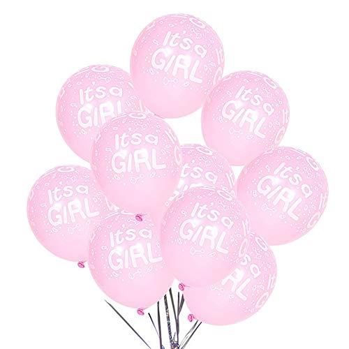 JSJJARD Luftballons 10pcs Ballone Es ist EIN Mädchen-Ballone Geschlecht Decken Birthday Party Dekorationen Helium-Luftballons (Color : Set E)
