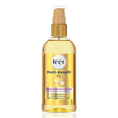 Veet, Multi Benefit Öl für seidigweiche Haut die Anwendung auf dem Körper Gesicht entwickelt 24h feuchtigkeitsspendend, Transparent, 100 milliliter