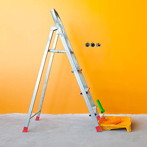 WINOMO 2Pcs Non Slip Ladder Feet Rubber Ladder Accessories Replacement Step Ladder Feet Foot Mat Cushion (Red)