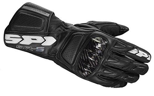 SPIDI Motorrad Handschuhe STR-5, Schwarz, Größe M