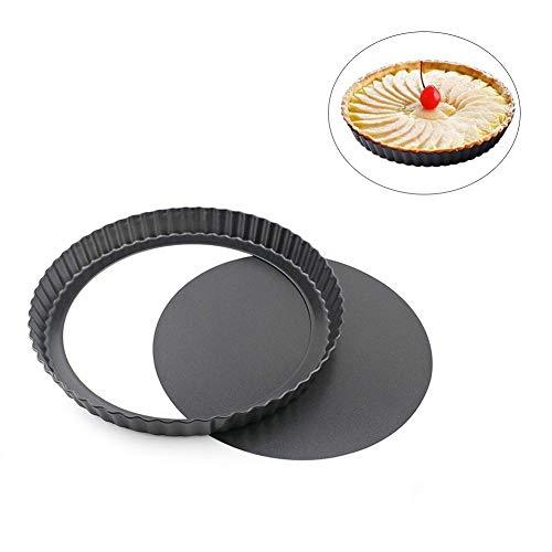 URMOSTIN Quicheform mit Hebeboden, 22 cm / 8.6 Zoll Non-Sticks Quiche Tart Pfanne Tarteform, Round Tart Torte Baking Pan, Obstkuchenform und Backform