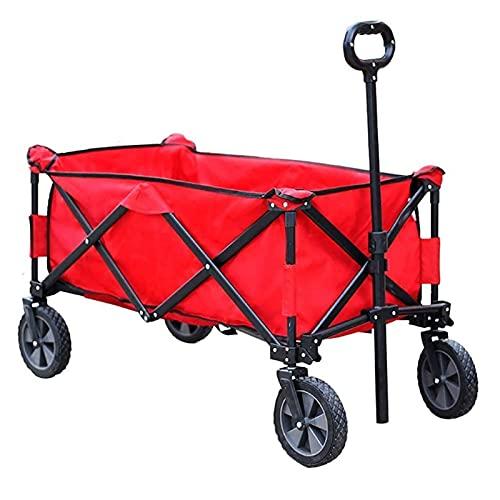 Z-SEAT Vagón utilitario Plegable, con Ruedas, Soporte para Bebidas, asa Ajustable, Carrito para Exteriores para jardín, Camping, Compras, Playa