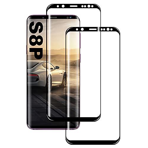 Pellicola protettiva in vetro temperato compatibile con Samsung S8 Plus, [2 pezzi] [HD Clear] [Senza bolle] [Durezza 9H] [Antigraffio] [Pellicola Protettiva per Samsung Galaxy S8 Plus