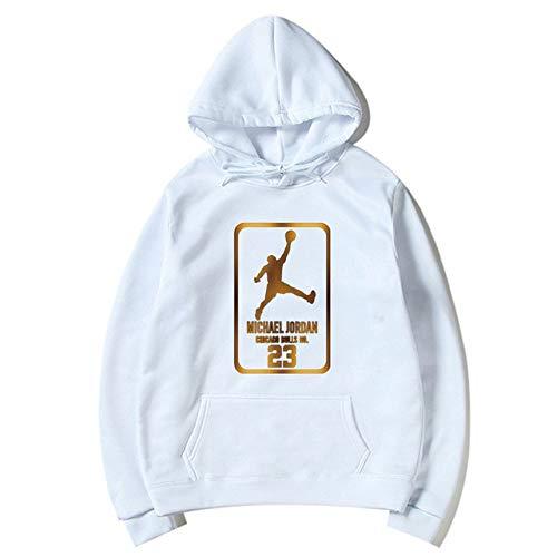 YDMZMS herensweatshirt met capuchon, modieus, 23 heren, sportswear, bedrukt, sweatshirt, trainingspak, sweatshirt, kleding, S, wit, 80