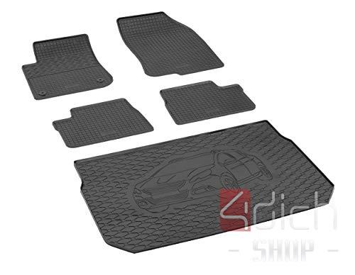Bac de coffre et tapis de sol en caoutchouc sur mesure pour Peugeot 2008 à partir de 2013 + housse de voiture MONTEUR