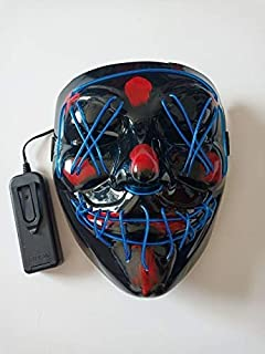 TANGGOOO Halloween Mask Up Party Masks Neon Cosplay Mascara Horror Glow in Dark Masque V for Vendetta Must Have Kids Items Toddler Favourite Superhero Dream Mini Unboxing