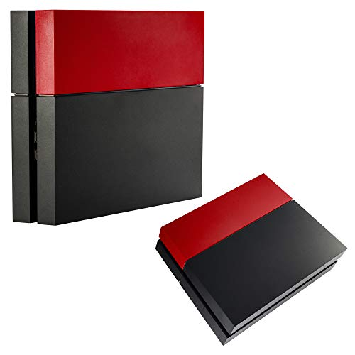eXtremeRate Solid Matte Red HDD Bay Hard Drive Cover Shell Case Replacement Faceplate for PS4 Console