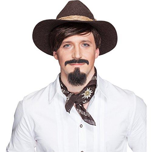 Cowboy Barba Juego mexikaner Hombres Barba 2piezas Western barbilla Barba y Bigote...