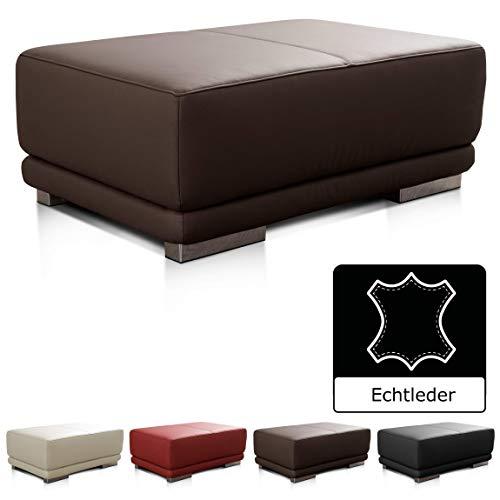 CAVADORE Lederhocker Corianne / Rechteckige Sitzbank in Echtleder / 103 x 41 x 69 / Echtleder dunkelbraun