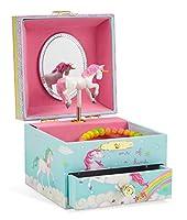 Jewelkeeper - Spieluhr Ballerina Schmuckschatulle, Einhorn Regenbogen Design mit Ausziehfach - The Unicorn Melodie