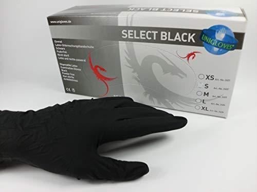 Select Black, Latex Untersuchungshandschuh *Black* Größe L, (1x100 Stück)