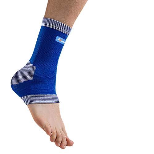 XXT Tobillera para recuperación de tensión en el tobillo, equipo de protección para articulación deportiva, esguinces, baloncesto, tobillera, sección fina, 2 unidades, nailon, azul, 25.5-26.5cm
