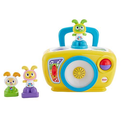 Fisher-Price la Boombox de Bebo Robot Interactif, Jouet Sons et Lumières, Stimule les Sens de Bébé en Musique, 6 Mois et Plus, FJB67