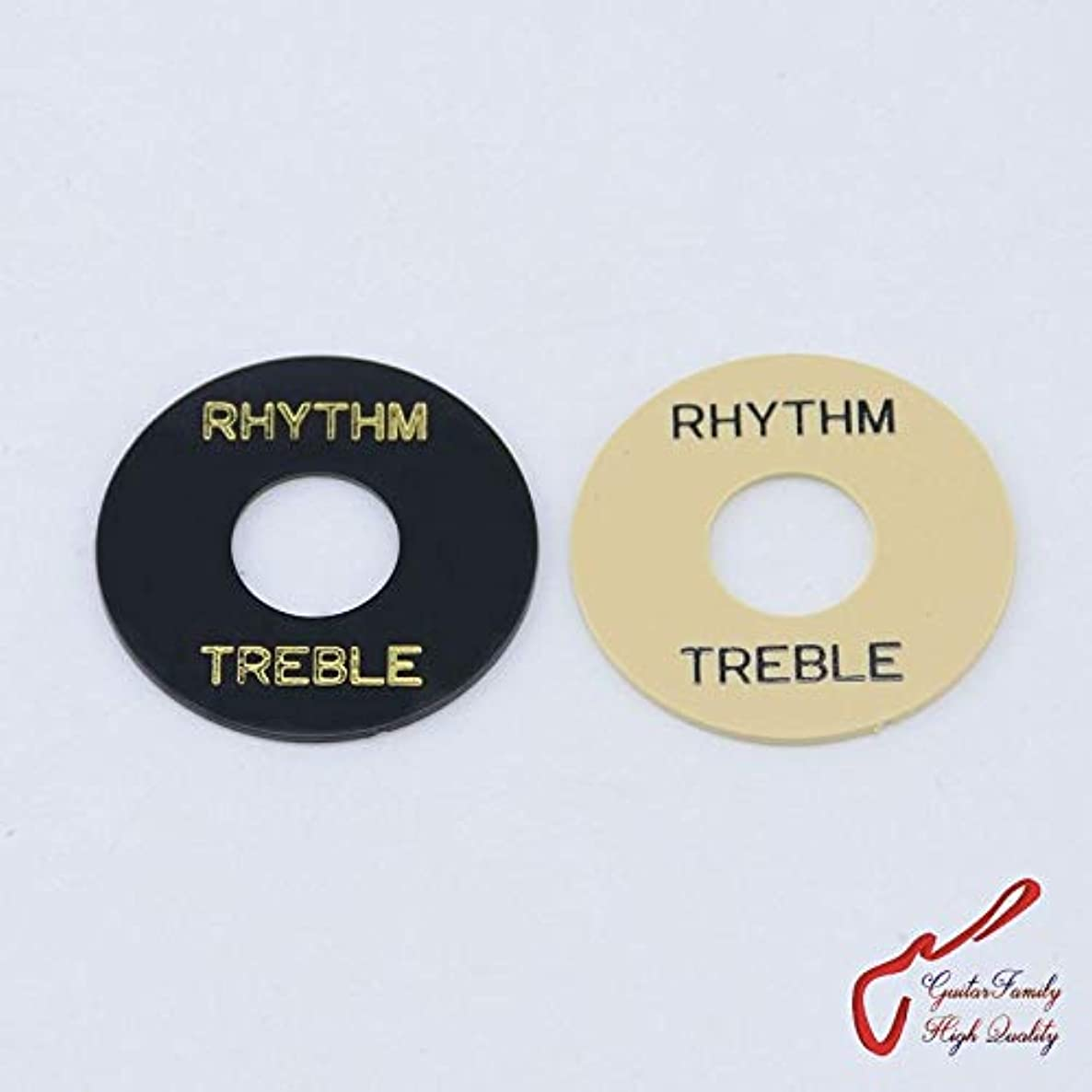1 Piece GuitarFamily Electric Guitar Pickup Toggle Switch Rhythm/Treble Surround Ring Plate (#0099) MADE IN KOREA