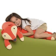 Yogibo Roll Mate Long Stuffed Animal Body Pillow for Kids, Provides Excellent Support and Comfort, Soft, Plush and Flexible, Fox