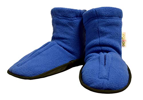 Yogibo Spa Style Aroma Slippers/Booties - Hot & Cold Lavender & Peppermint Aromatherapy - Soothes Aches & Pains - Easy Slip on - Machine Washable Cover - M-L Purple
