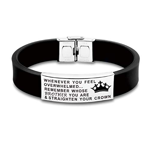 FALOGIJE Whenever You Feel Overwhelmed Remember Whose Sister/Brother/Cousin You are Straighten Your Crown Bracelet
