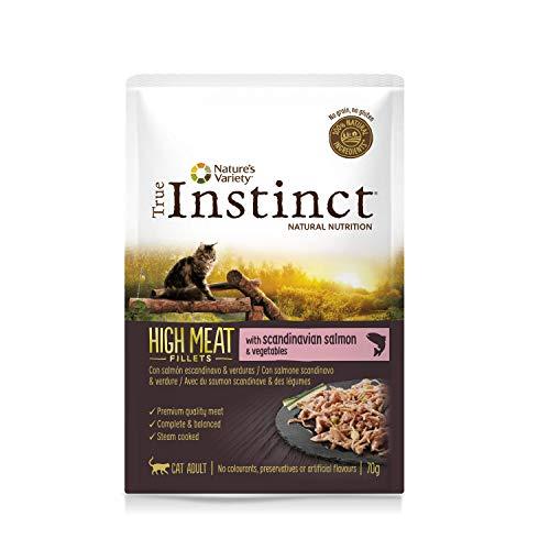 True Instinct High Meat Adult - Nature s Variety - Filetes con Salmón para Gatos 70gr - Pack de 8