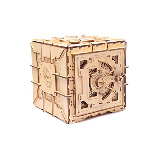 YINGZU Rompecabezas de Madera 3D Caja de Almacenamiento Contraseña Caja del Tesoro Modelo Kit de construcción Juguetes para niños Decoración del hogar Regalos para Adultos