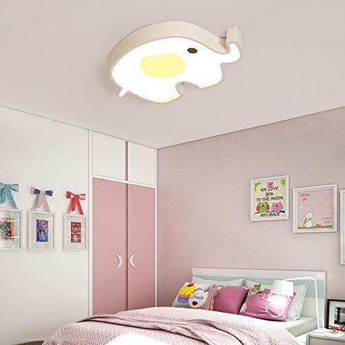LCSD Lámpara de techo personalizada de la habitación de los niños de dibujos animados Elefante LED Luces de techo simple y elegante habitación de los ...