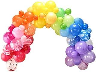 Balloon Arch Kit Party Balloons Confetti Balloons & Rainbow Balloons for Happy Birthday Balloons, Rainbow Party, Unicorn Party Supplies & More 70 Balloons 6.5 Ft Tall When Assembled