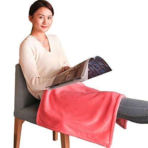 NADAENDR Elektrische verwarmingsdeken, eenpersoonsbed, verwarmingsdeken, voeten, kantoor, thuis, winter, knieverwarming, afneembaar, wasbaar, 80 x 150 cm