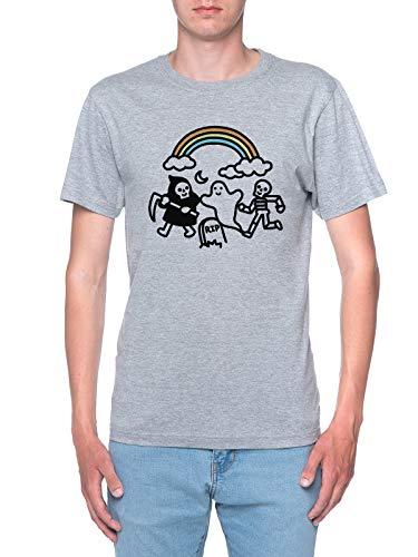 Delavi Spooky Pals Camiseta Hombre Gris T-Shirt Men's Grey