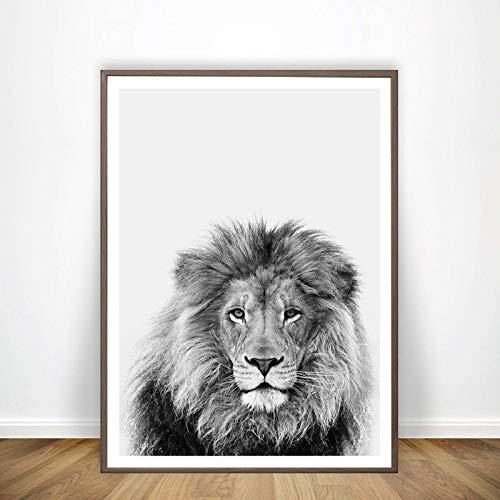 Zwarte en witte dierlijke leeuw kunst decoratie canvas schilderij muurschildering safari leeuw fotografie kunst prints en posters moderne huisdecoratie frameless