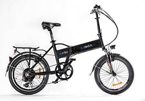 Lobito Ice Mini Bicicleta eléctrica Plegable, Unisex Adulto,Negro,Talla Única