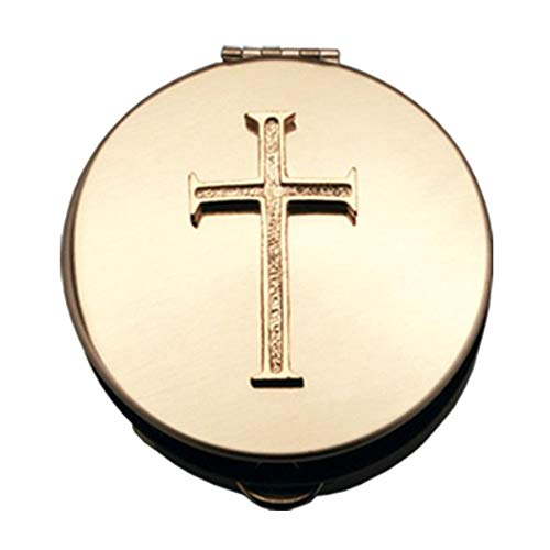 Cathedral Art Gold Latin Cross PYX Container