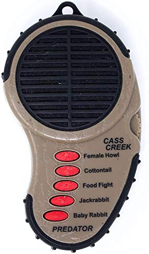 Cass Creek Ergo Predator Call, Handheld Electronic Game Call, CC010, Compact Design, 5 Calls In 1, Coyote Call, Expert Calls for Everyone
